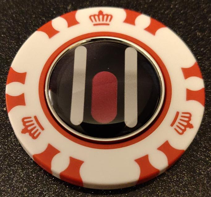 Poker Chip with Ball Marker